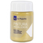 Pintura metalizada la pajarita color oro rico 35 ml