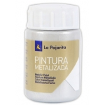 Pintura metalizada la pajarita color plata 35 ml