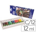 Pintura oleo Artist caja cartón de 12 colores surtidos tubo de 12 ml