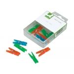 Pinza fantasía Q-connect 32 mm caja de 10 unidades colores surtidos