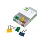 Pinza metálica Q-connect reversible 19 mm caja de 6 unidades colores surtidos