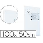 Pizarra Rocada magnética color blanca con sistema ski whiteboard 100x150 cm