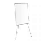 Q-Connect KF04165 - Pizarra blanca laminada, con trípode, marco de plástico, tamaño 70 x 100 cm