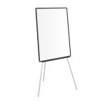 Q-Connect KF04173 - Pizarra blanca laminada, con trípode, marco de plástico, tamaño 70 x 103 cm