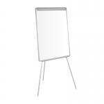 Q-Connect KF04158 - Pizarra blanca lacada magnética, con trípode, marco de aluminio, tamaño 74 x 100 cm