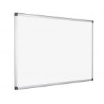 Q-Connect KF01080 - Pizarra blanca lacada magnética, marco de aluminio, tamaño 120 x 90 cm