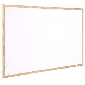 Pizarra blanca Q-Connect laminada marco de madera 90x60 cm