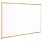 Q-Connect KF03571 - Pizarra blanca de melamina, marco de madera, tamaño 90 x 60 cm