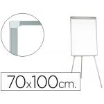 Pizarra color Blanca Q-Connect con tripode 70x100 cm para convenciones superficie laminada escritura directa