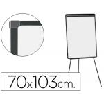 Pizarra color Blanca Q-Connect con tripode 70x103 cm para convenciones superficie laminada marco negro