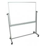 Pizarra blanca Q-Connect doble cara melamina marco de aluminio 120x90 cm giratoria