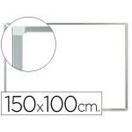 Pizarra color Blanca Q-Connect lacada magnética marco de aluminio 150x100 cm