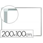 Pizarra color Blanca Q-Connect lacada magnética marco de aluminio 200x100 cm