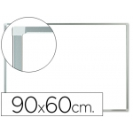 Pizarra color Blanca Q-Connect lacada magnética marco de aluminio 90x60 cm