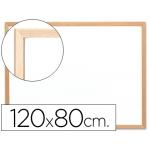 Pizarra color Blanca Q-Connect laminada marco de madera 120x90 cm