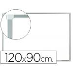 Pizarra color Blanca Q-Connect melamina marco de aluminio 120x90 cm
