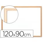 Pizarra color Blanca Q-Connect melamina marco de madera 120x90 cm