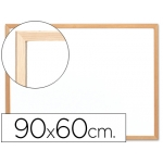 Pizarra color Blanca Q-Connect melamina marco de madera 90x60 cm
