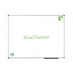 Pizarra blanca Nobo eco classic ecológica magnética de acero vitrificado 120x90 cm