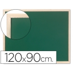 Pizarra color verde Q-connect marco de madera 120x90 cm sin repisa
