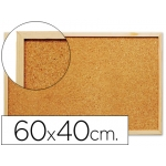 Pizarra corcho Q-connect 60x40 cm marco de madera