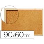 Pizarra corcho Q-connect 90x60 cm marco de color madera