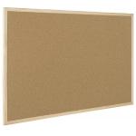 Q-Connect KF03567 - Pizarra de corcho, marco de madera, corcho de 1 mm de grosor, tamaño 90 x 60 cm