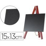 Pizarra negra Liderpapel caballete madera superficie para rotuladores tipo tiza 15x13 cm juego 3 pizarras