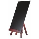 Pizarra negra Liderpapel caballete de madera con superficie para rotuladores tipo tiza 22x35 cm