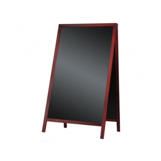 Pizarra negra Liderpapel caballete doble cara de madera con superficie para rotuladores 75x135 cm