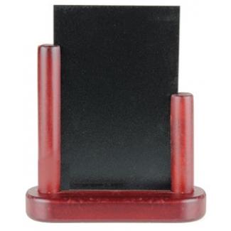 Pizarra negra Liderpapel doble cara de madera con superficie para rotuladores tipo tiza 15x21 cm