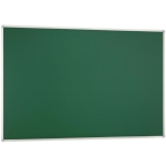 Pizarra verde mural Q-connect 200x100 cm sin repisa con marco de aluminio