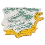 Csp 152218 - Plantilla mapa de España, plástico, bolsa de 3 mapas, tamaño 22 x 18 cm
