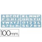 Csp 1800 - Plantilla de rotulación, letras y números, plástico, tamaño 100 mm, transparente
