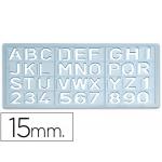 Plantilla rotulación letras y números de 15 mm