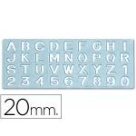 Plantilla rotulación letras y números de 20 mm