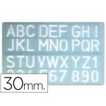Plantilla rotulación letras y números de 30 mm