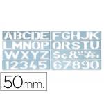 Plantilla rotulación letras y números de 50 mm
