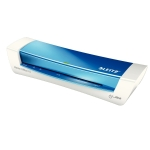 Plastificadora Leitz ilam home office tamaño A4 con 2 rodillos hasta 125 micras color azul