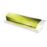 Plastificadora Leitz ilam home office tamaño A4 con 2 rodillos hasta 125 micras color verde