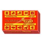 Jovi 70-05 - Plastilina, pastilla de 50 grs, color rojo