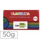 Liderpapel MC10 - Plastilina, pastilla de 50 grs, color rojo