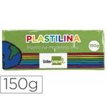 Plastilina Liderpapel color verde claro tamaño mediano
