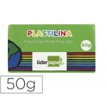 Liderpapel MC12 - Plastilina, pastilla de 50 grs, color verde claro