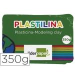 Plastilina Liderpapel color verde oscuro tamaño grande