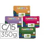 Liderpapel MC-46 - Plastilina, caja de 15 pastillas de 350 grs, colores surtidos