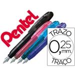Pluma Pentel mini tradio colores surtidos negro rosa azul y violeta