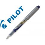 Pluma Pilot v pen silver desechable color azul