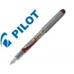 Pluma Pilot v pen silver desechable color rojo