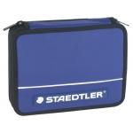 Plumier escolar Staedtler grande de tela color azul doble cremallera